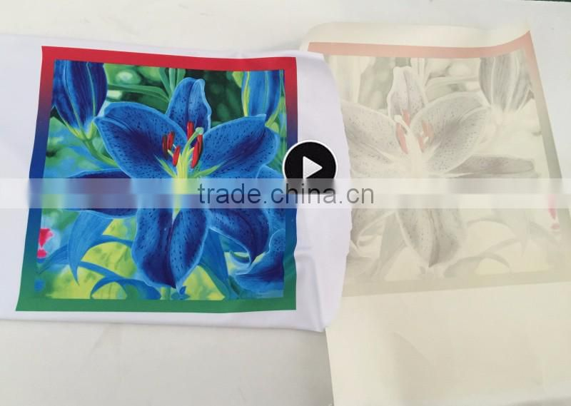 100gsm sticky paper roll dye sublimation transfer paper of