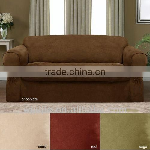Suede couch covers strecth sofa covers