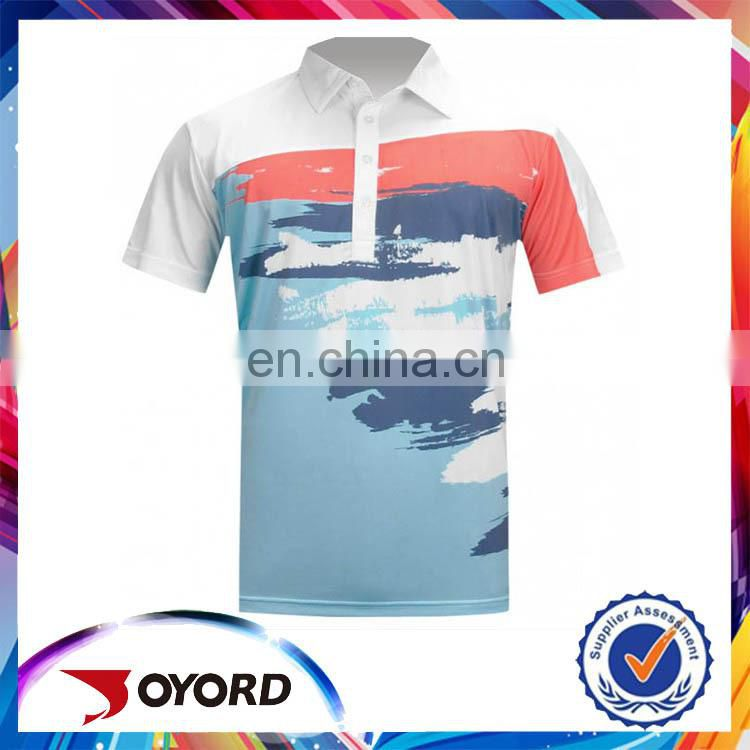 New 2017 Wholesale Clothing Design Custom T Shirt Printing Your Logo Sublimated Polo Shirt