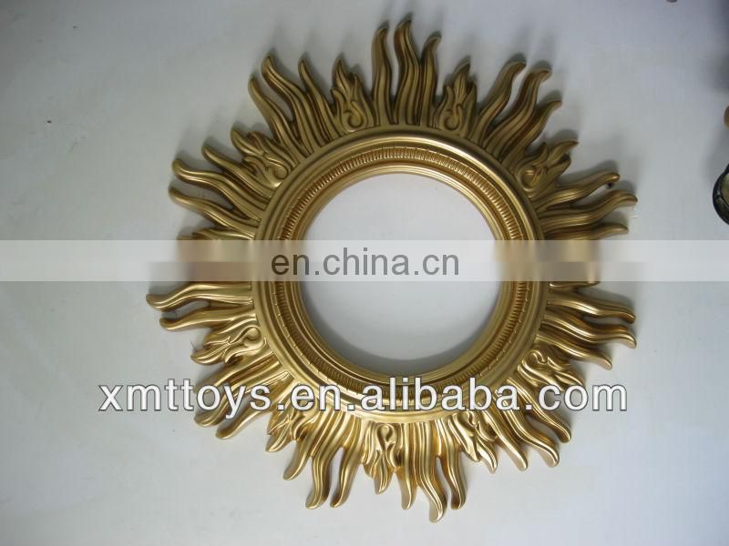 golden mirror frame for home decoration
