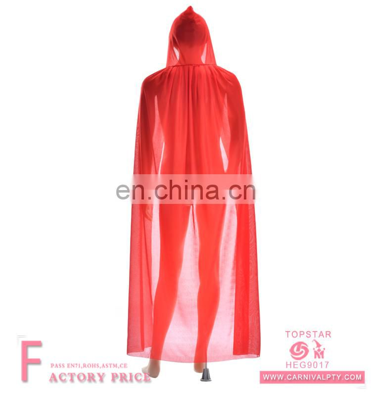 Red vampire cloak women cape dress for Party Cosplay