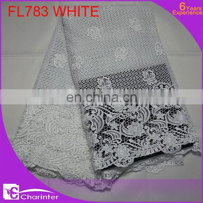 free shipping african crochet lace fabric guipure lace fabric
