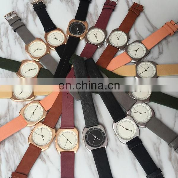 Promotional hot designs lady watch women watch leather watch