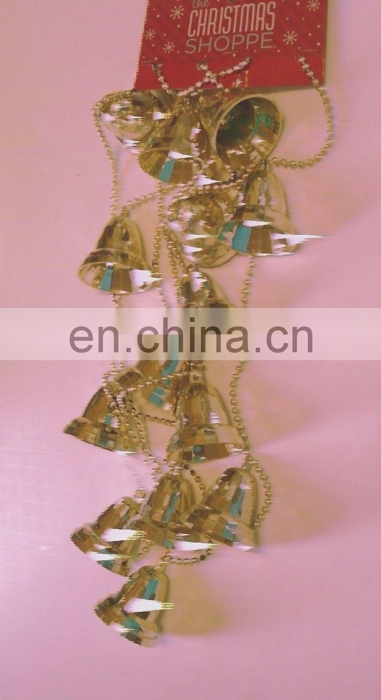 GOLD BELLS AND BEADS GARLAND CHRISTMAS DECORATION
