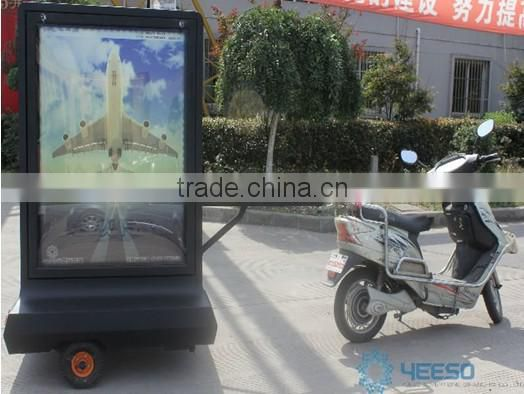 YEESO Motorcycle Mini trailer,Scooter tail box,Advertising Scooter,open trailer box trailer