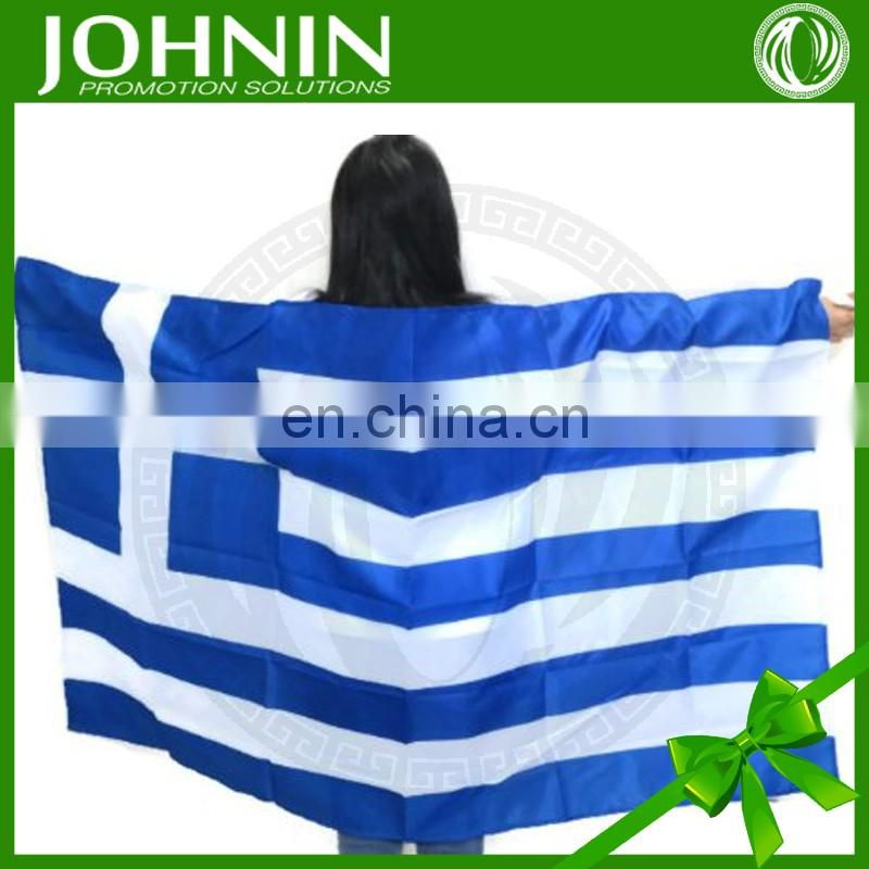 wholesale custom design 190T polyester greece body flag for promotion
