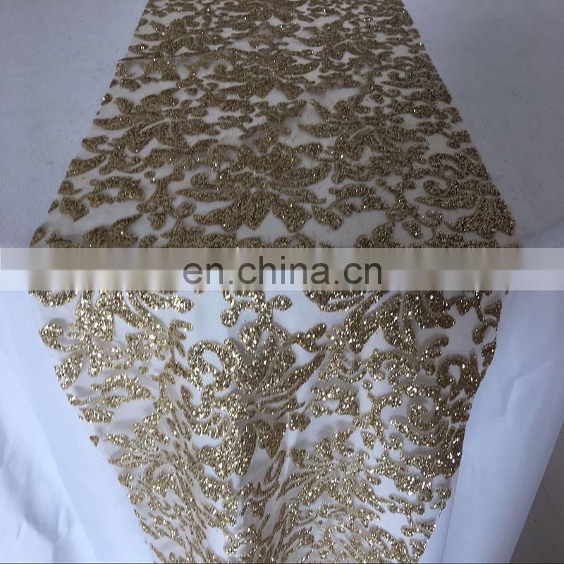 SQN gold sequin table runner fancy table runners artificial grass table runner