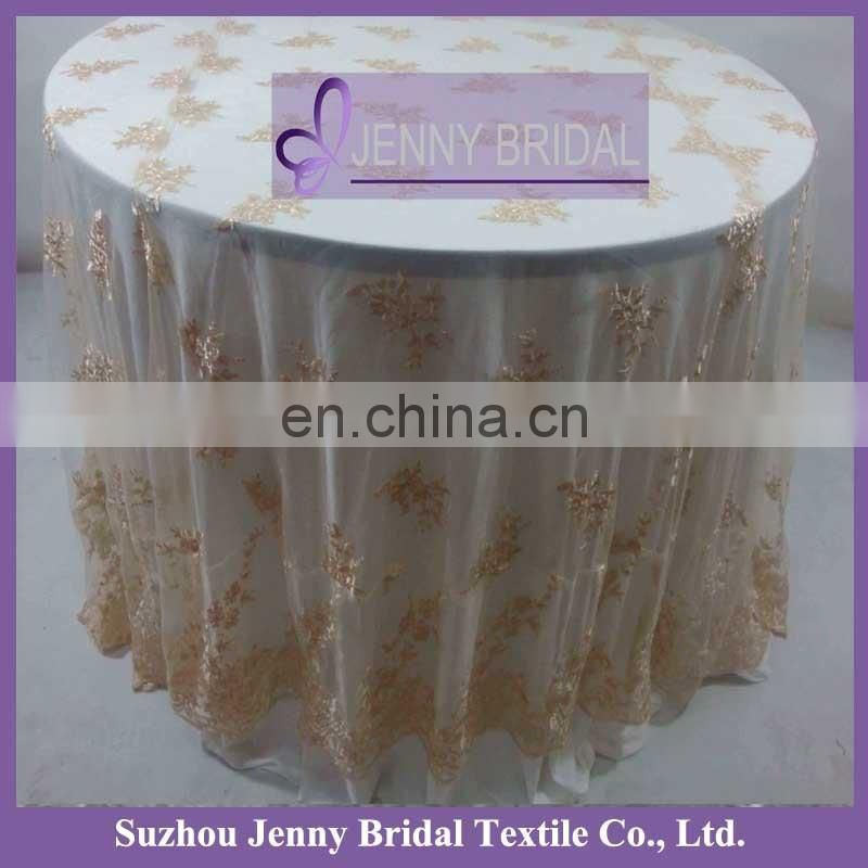 TL019G large round sequin table overlay