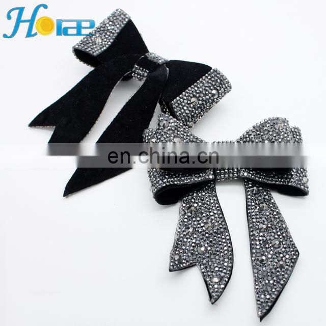 Fashion rhinestone shoe buckle shoe accessories bow for decorative hsa005