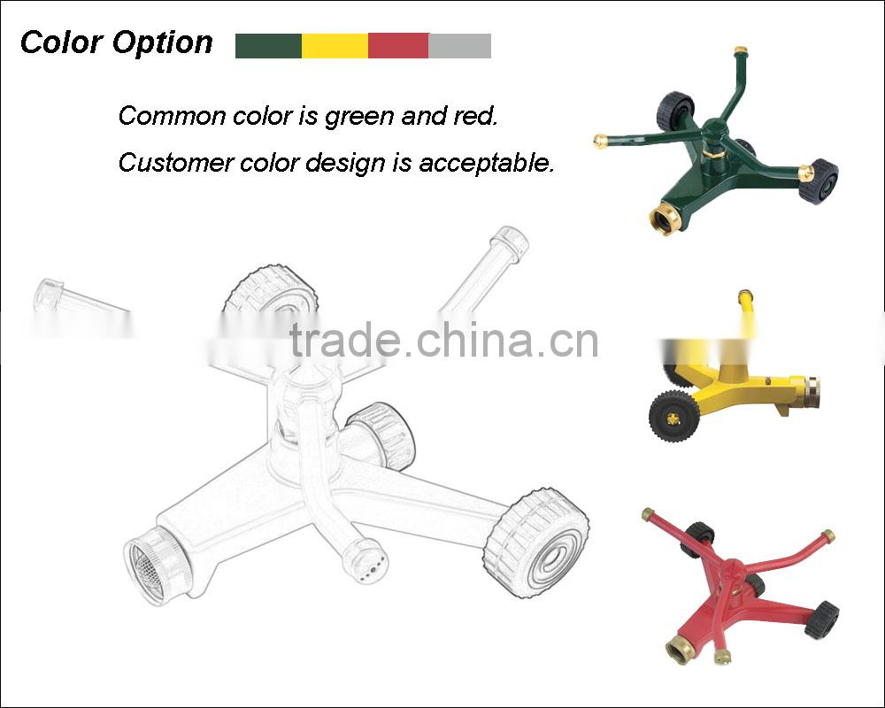 (8-20601) Competitive price green 3 arms rotating sprinkler, rotate sprinkler, rotation sprinkler