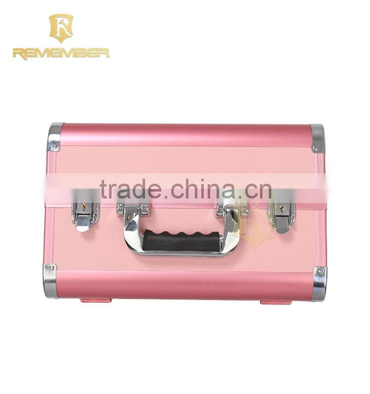 High quality aluminum cosmetic makeup suitcases aluminum makeup kit case cosmetic box hemp packaging
