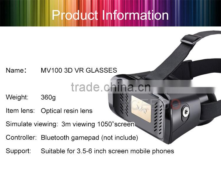 Hot selling wholesales pictures porn 3d vr glasses supports 3.5 inch to 6.1 inch phone