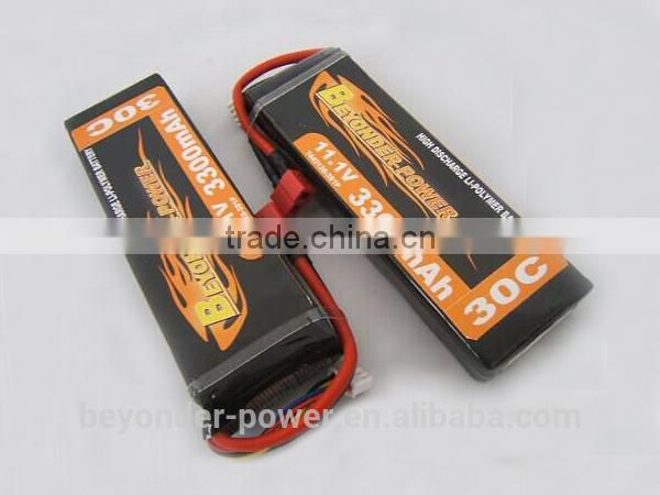 China factory hottest export solar battery 2300mah with excellent discharge for RC airplane and helicopter battery