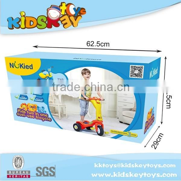 3in1 new model children bicycle toy car stroller kids toy car slide with indoor plastic car slide