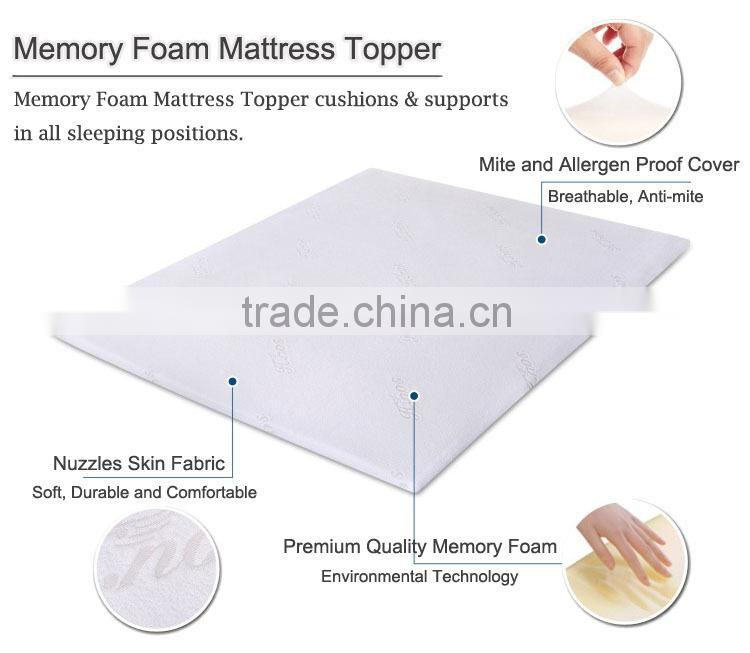 cooling gel memory foam bed mattress topper,portable foam mattress