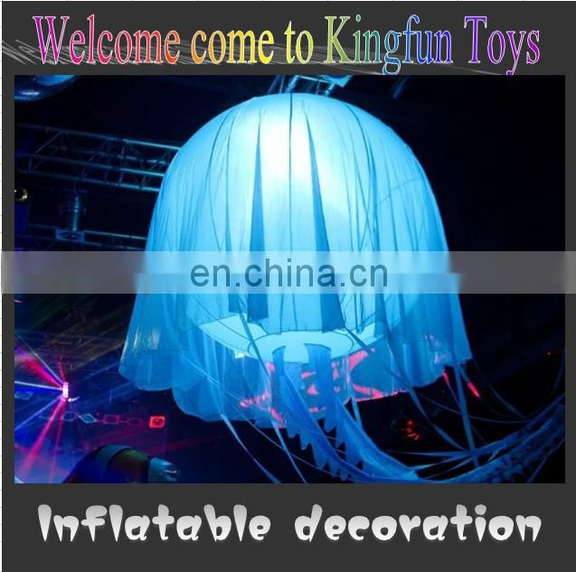 Hot sale Inflatable jellyfish can change color
