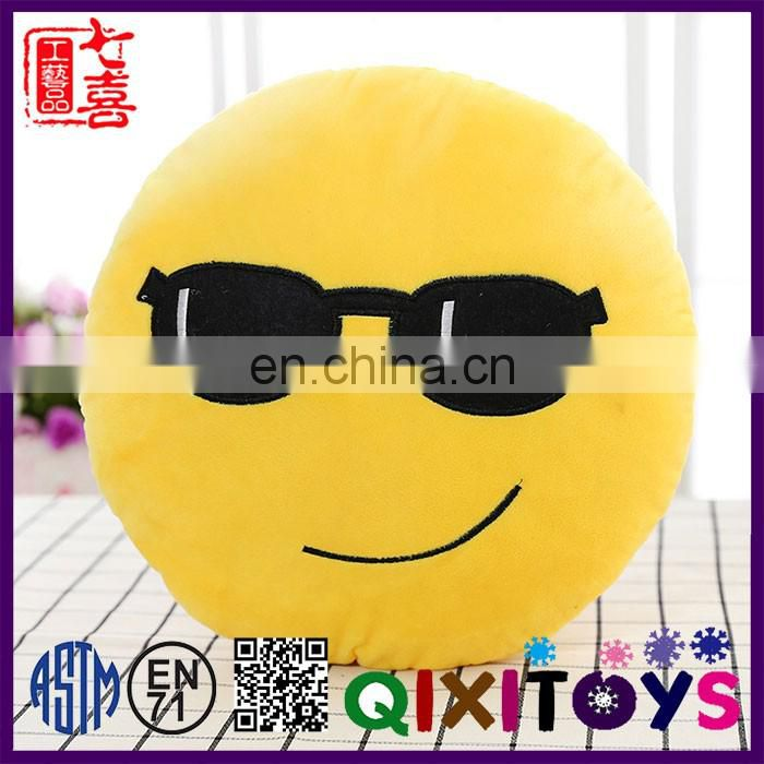 Popular Whatsapp emoticon stuffed plush fabric emoji cushion pillow