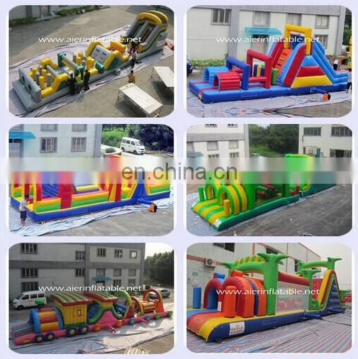 2015 Nature obstacle course inflatable playground games for children.