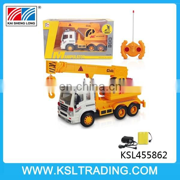 Hot sale 4 channel engineering crane rc car with light