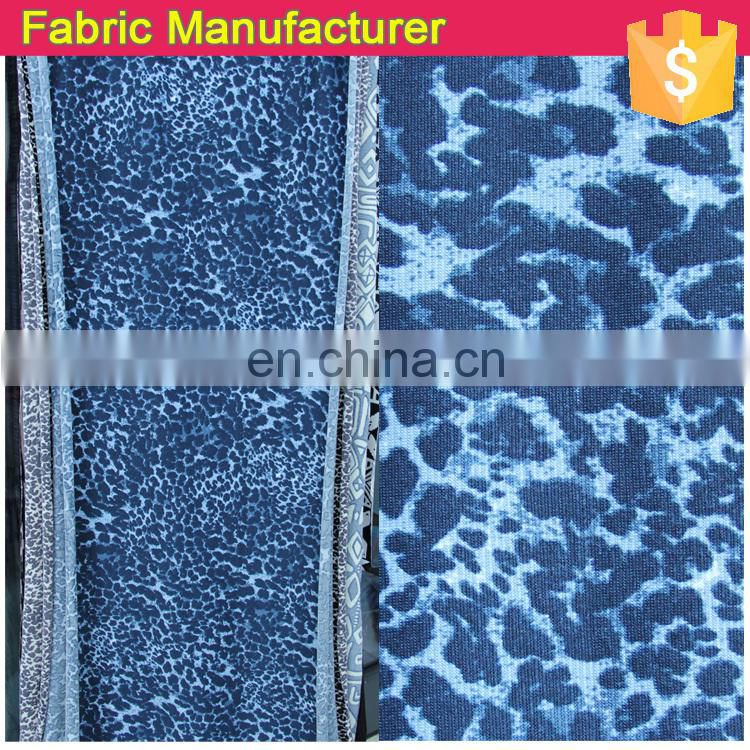 Onway Textile 100% polyester printed dty fabric/ printing / ity / knitted fabric fdy with spangle