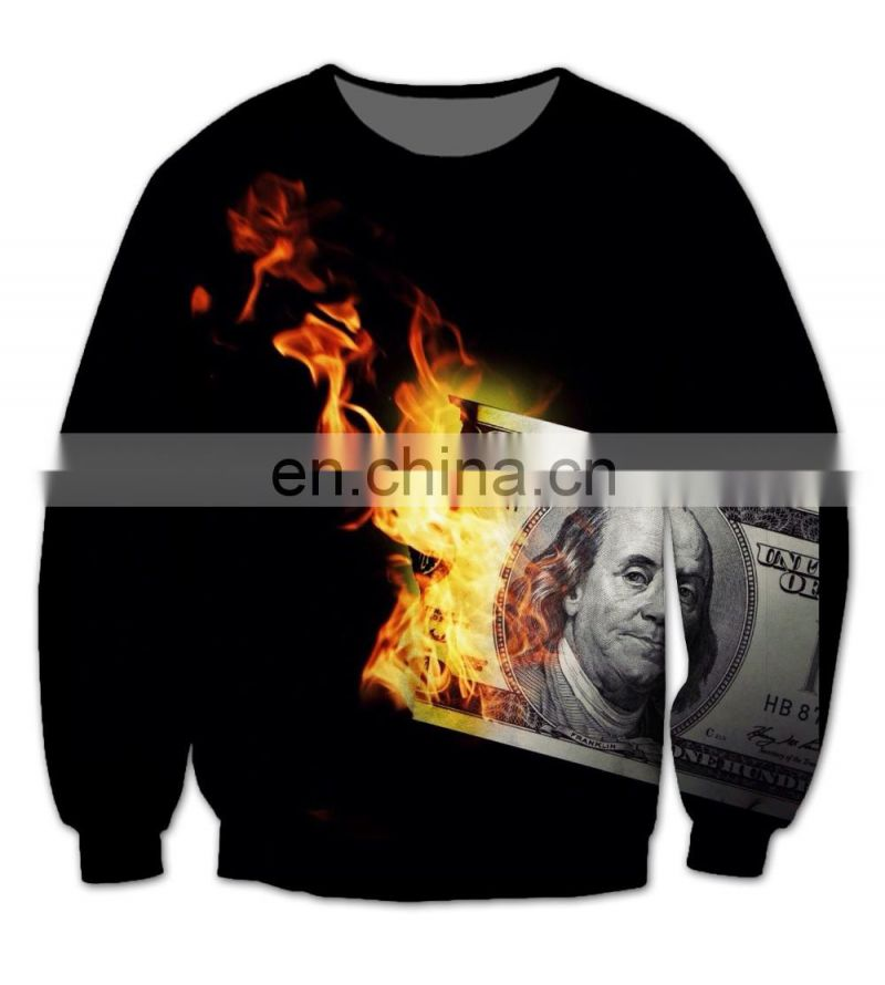 New Custom Women Men 3D Sublimation Print Fleece Sweatshirt Crewneck Plus Size Fashion Clothing