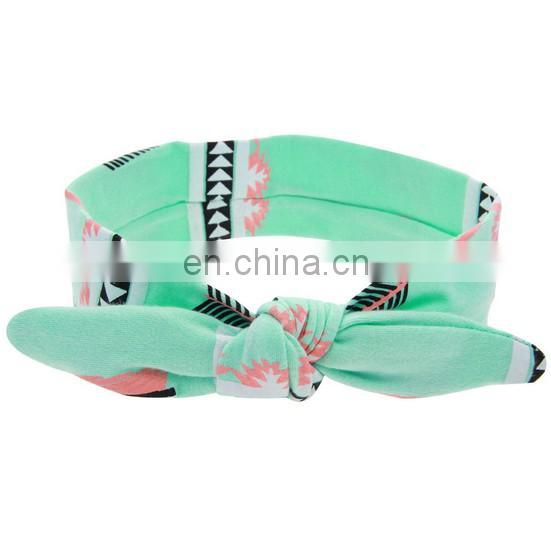 Mint Turban Headbands With Leaf Newborn Elastic Headwrap Bandanna Head Wrap For Dainty Photo Prop Headband