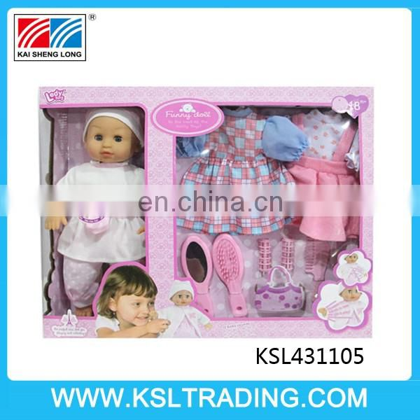 12 inch cotton reborn baby dolls kits with many accessories