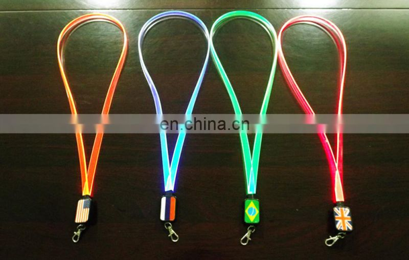 NEW party LED lanyard make a led necklace lanyards glow in dark
