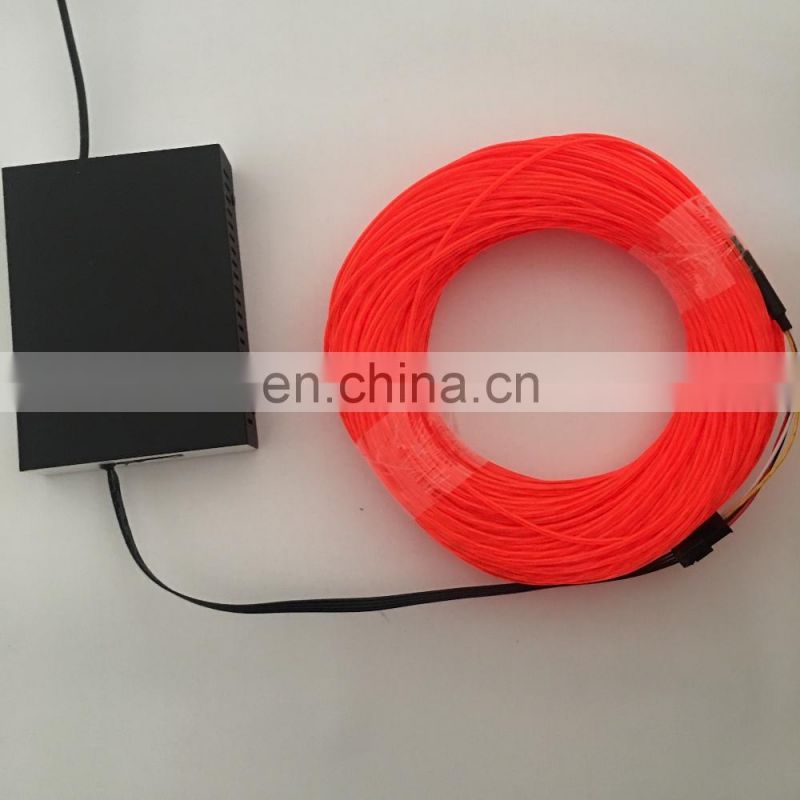 2.3mm chasing el wire flow electroluminescent wire flexible neon
