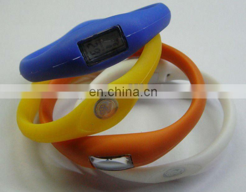 Fashion Silicone Ion Sport Watch 10g for promotion gift