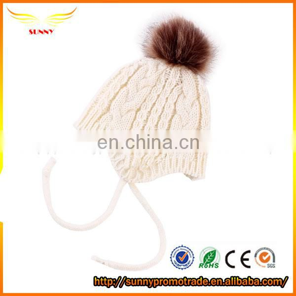 hot sell women acrylic knitted long beanie hat