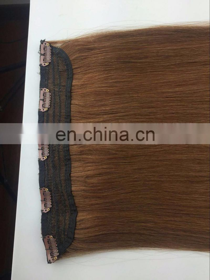 factory price remy one piece clip in hair extensions brown human hair clip in hair extensions for black women 120g/220grams