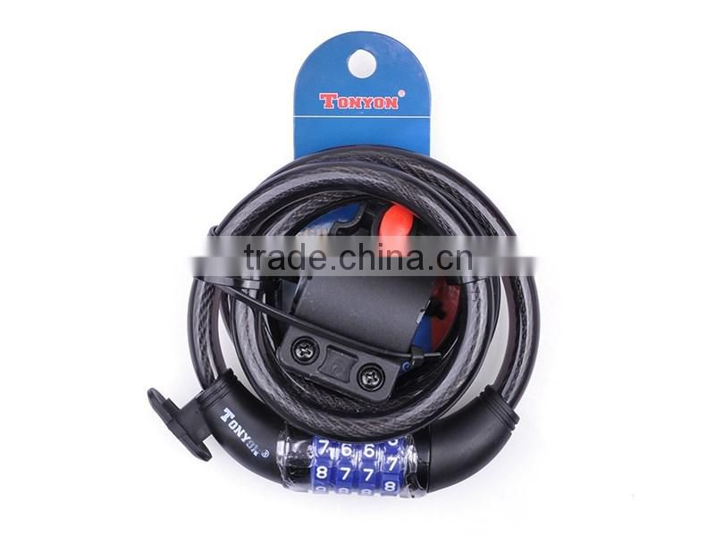 High Quality Rubber Bicycle Lock Durable and Cheap Bicycle Combination Lock