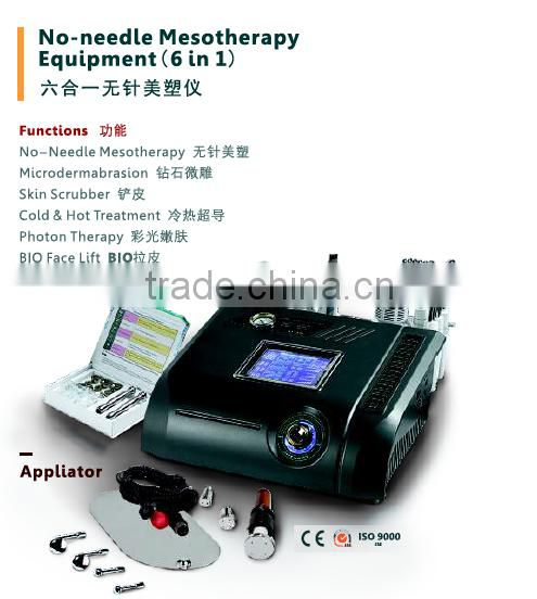 No Needle Free Mesotherapy diamond microderbrasion facial peeling Equipment for Skin Care