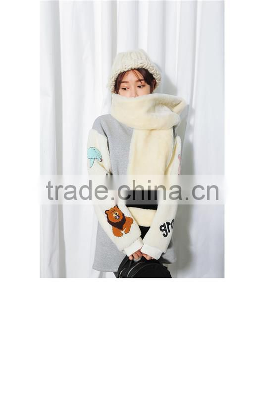 High quality faux rabbit fur long strip color woman winter fur long scarves with low price