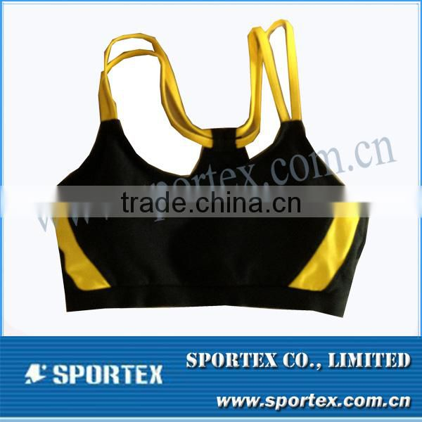 Quality sport bra top for fitness&yoga&training , padded yoga bra top