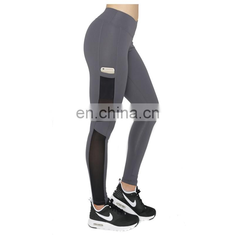 Women's Compression features 4-way stretch Camo mesh Fitness Leggings breathable fabric Active wear