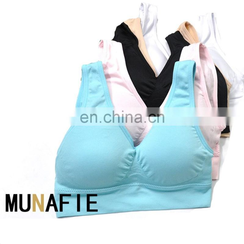 BestDance Hot Sell Yoga Polyester fabric sexy ladies sports bra fitness wear