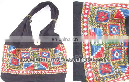 canvas embroidery women's ethnic bag
