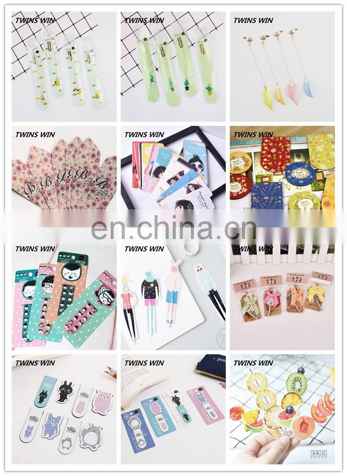 china stationery market 2018 promotion gift custom office popular cartoon paper printed bookmarks for books