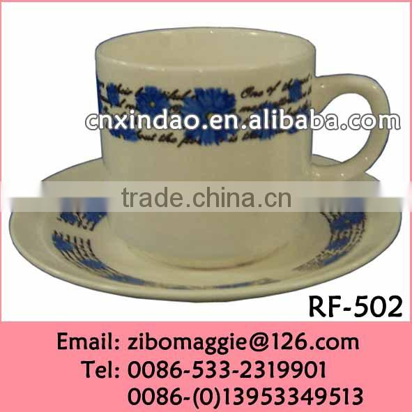 Promotional Custom Designed Drinking Cup and Saucer for Porcelain Coffee Cup Set