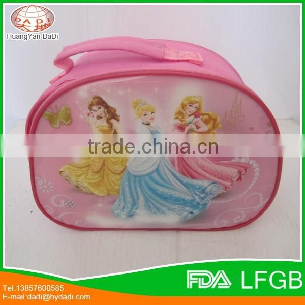 Promotional school cartoon lunch bag for children , kids lunch bag