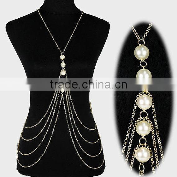 Body Chain Necklace Harness Bikini Belly Beach Jewelry Gold Color Multi Layer Body Chain