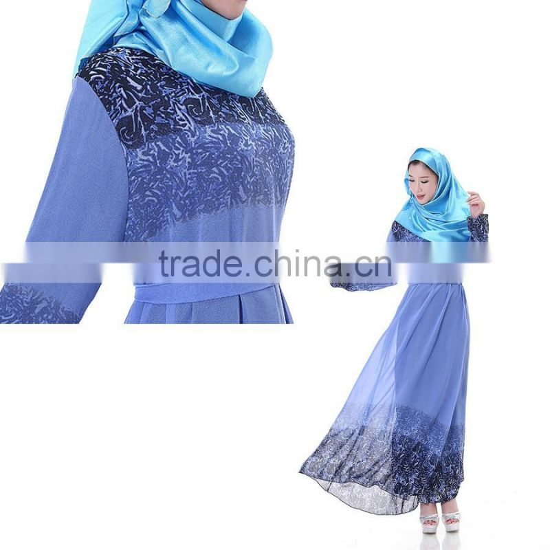 hot sales Indonesia, Malaysia women long sleeve muslim evening dress