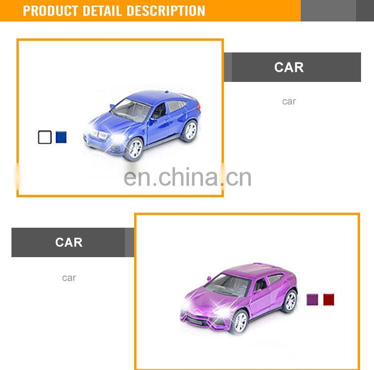 New Design 15CM Diecast toy pull back scale model car with light and music