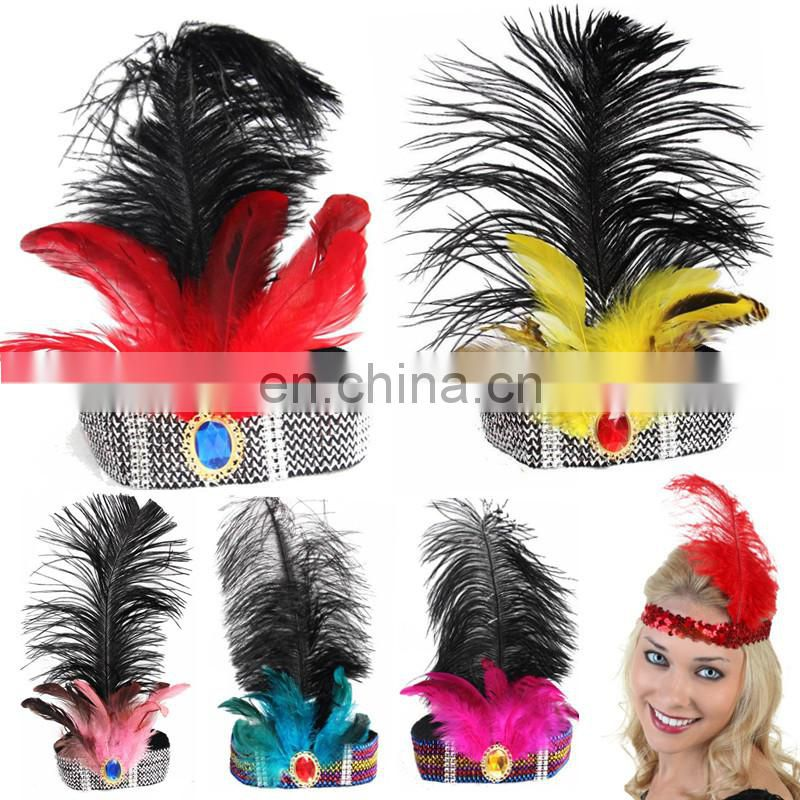 event & party supplies multicolor Indian flapper headpiece