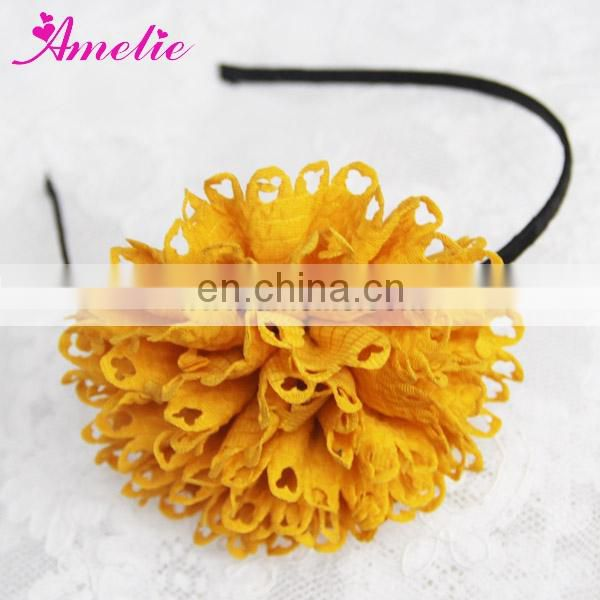 AH824 Fashion Knitted Fabric Thin Metal Mix Color Headband
