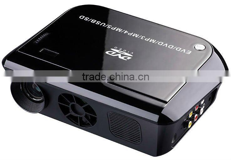dvd usb projector player tv tuner MP3 MP4 MP5 SD card reader USB all in one projector hot selling!!!