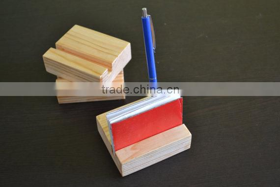 desk wood card holder