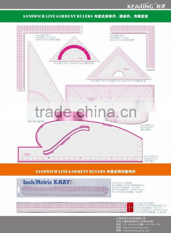 kearing brand,patchwork & quilting,squared curve ,grading sewing ...
